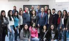 """ورشة عمل لطلاب LCU بمعهد باسل فليحان حول """"الواردات والنفقات والموازنة"""""""