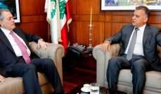 اللواء إبراهيم التقى سفير سوريا وبحث معه في أوضاع النازحين السوريين