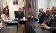 الحاج حسن عرض مع وفد ليبنور لنشاط المؤسسة التنموي والتخطيطي