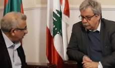 اسامة سعد استقبل حنا غريب في مكتبه في صيدا