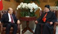 الراعي من بعبدا: الرئيس عون ابلغني ان البلد مفلس وعلينا ضبط الهدر