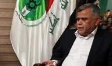 زعيم تحالف الفتح العراقي: الفياض مرشح رئيس الوزراء لوزارة الداخلية وليس مرشحنا