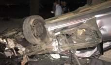 النشرة: سقوط قتيل وجريح بحادث سير مروع على طريق بلدة غزة البقاعية
