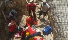 اصابة عامل سوري اثر سقوطه من احدى ورش البناء في عنايا