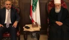 الشيخ حسن التقى أبو الحسن وبحث معه مجمل الأوضاع والتطورات العامة