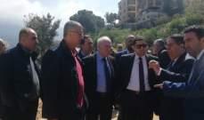 محافظ جبل لبنان اطلع على مشاريع قيد التنفيذ في قضاء المتن