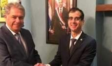 دبور التقى سفير الباراغواي في لبنان