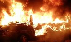 """النشرة: إخماد حريق داخل بستان في صيدا والنيران التهمت """"فانًا"""" كان بداخله"""