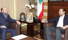 انتهاء اللقاء بين الرياشي والحريري في بيت الوسط