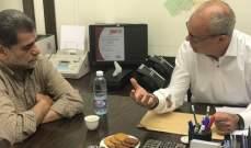 """رئيس بلدية علي النهري زار نكد مطالبا بالتمديد لامتياز """"كهرباء زحلة"""""""