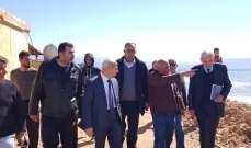 خير والقيسي تفقدا أعمال التحصين على شاطىء حي البحر عكار