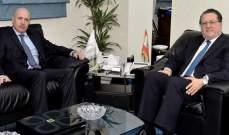 شقير عرض مع سفير الارجنتين للعلاقات وسبل تطويرها