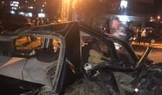 النشرة: سقوط 3 جرحى بحادث سير على طريق عام قب الياس عميق