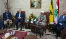 السفير فتحعلي زار الشيخ يزبك: لبنان شعلة المقاومة الإسلامية البطلة