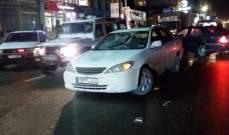 جريح اثر حادث سير على طريق عام الشبريحا - صور.