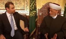 دريان اطلع من أفيوني على النشاطات والمشاريع المنوي القيام بها في الوزارة