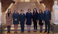 اللبنانية الأولى ونظيرتها النمساوية جالتا في مختلف أرجاء المتحف الوطني