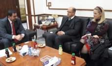 اللقيس التقى وزير النقل الأردني وبحث معه سبل التعاون بين البلدين