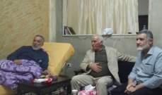 اللواء ابو عرب زار الجريح رائف حمود في عين الحلوة