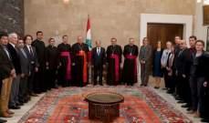 الرئيس عون استقبل رئيس مجمع الكنائس الشرقية في الفاتيكان