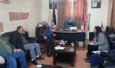 النشرة: اللواء ابو عرب التقى وفد الصليب الاحمر الدولي