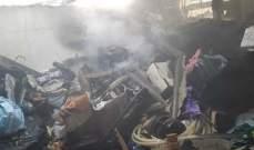 اطفاء بيروت أخمد حريق غرفتين على سطح مبنى في منطقة الطريق الجديدة