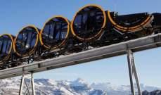 سلطات سويسرا تدشن أعلى قطار معلق في العالم