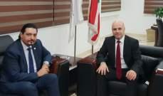 حاصباني بحث مع سفير قطر الواقع الصحي في البلدين