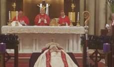 الكاردينال ساندري يترأس قداسا على راحة نفس البطريرك صفير