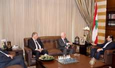 الحريري التقى الدبور ومسؤولين من فتح ومنظمة التحرير