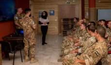 الكتيبة الايطالية تنظم دورة تدريبية لصالح ضباط وعناصر من الجيش اللبناني والإيطالي