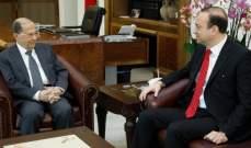 الرئيس عون استقبل سفير لبنان المعين بالسعودية الذي استأذنهبالسفر لتسلم مهامه