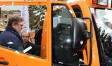 افرام قدم آليّة لرشّ الملح ومنع تكوّن الجليد لبلدية كفرذبيان