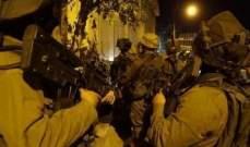 الجيش الإسرائيلي اعتقل 22 فلسطينيا بالضفة بشبهة الضلوع بنشاطات إرهابية