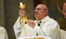 رئيس مجمع الكنائس الشرقية بالفاتيكان ترأس قداسا إلهيا في كنيسة مار شربل-عنايا