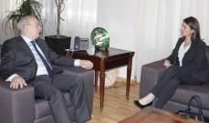 الخوري بحث مع لاسن في التطورات في لبنان والمنطقة