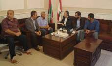 سعد التقي وفد الحملة الوطنية للحفاظ على مرج بسري