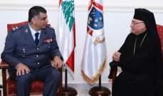 اللواء عثمان زار البطريرك العبسي وأطلعه على مهام قوى الأمن والتقى درويش والعاقوري
