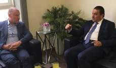 فادي سعد بحث مع غلين مايلز في تأليف الحكومة ومرسوم التجنيس وعودة النازحين