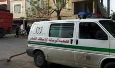 جريح صدما في منطقة أبو الأسود- الخرايب
