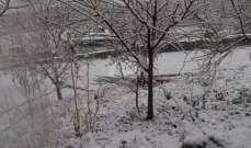 العاصفة تشتد في زغرتا والثلوج تتساقط على إرتفاع 600 متر وما فوق