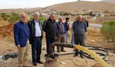 مصلحة مياه بعلبك دشنت بئرا في بلدة النصر تولت الريجي حفره