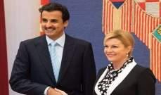 أمير قطر: نواصل توسيع قاعدة علاقاتنا مع مزيد من دول العالم في كرواتيا