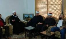 الشيخ قبلان استقبل وفداً من جمعية الخيرات الخيرية في منطقة عكار
