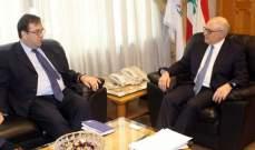 أبو سليمان بحث مع فوشيه في مشاريع سيدر وخلق فرص عمل للبنانيين