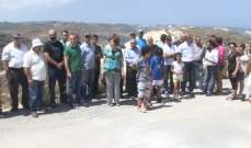 لجنة كفرحزير البيئية نفذت وقفة إحتجاجية:لختم مصانع إسمنت شكا بالشمع الأحمر