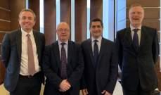 قيومجيان عرض مع وزير بريطاني ملف النزوح السوري واستقبل سفير ارمينيا