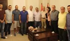 سعد التقى وفدا من أصحاب الدباغات في صيدا ولجنة مهرجانات صيدا