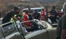 الصليب الأحمر ينفذ مناورة تدريبية على التعامل مع حادث سير كبير على اوتوستراد حلبا القبيات
