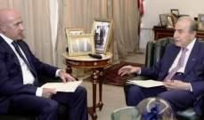 الخليل التقى أليسيه: لبنان الرسمي يجب أن يسعى لتطوير العلاقة مع الأرجنتين